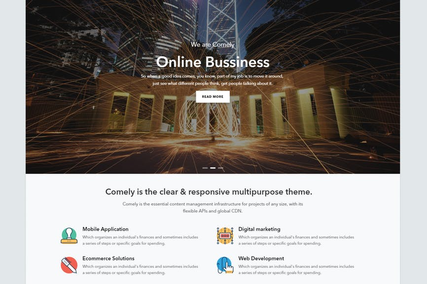 Comely - Responsive Business Drupal 8 Theme