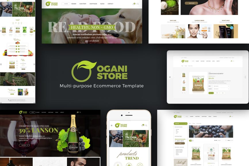 Ogani - Organic, Food, Pet Opencart Theme