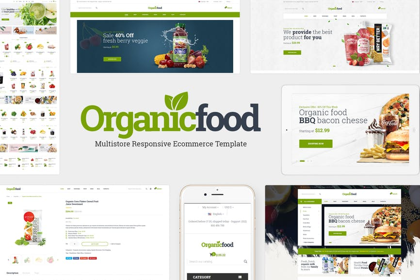 OrganicFood - Food, Alcohol, Cosmetics OpenCart