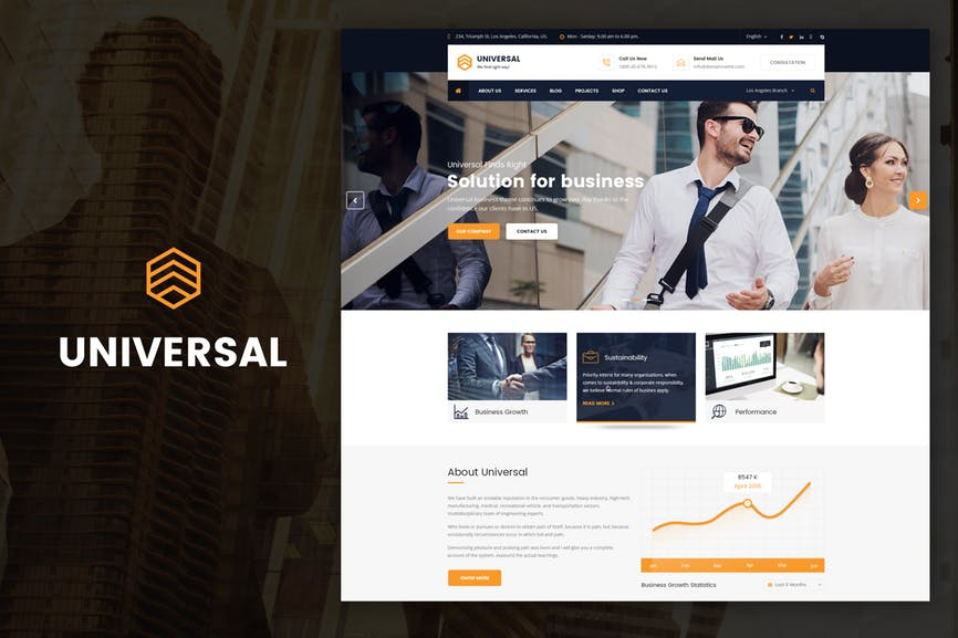 Universal - Business, Consulting Drupal Theme